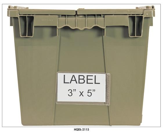 LABELS FOR HEAVY DUTY ATTACHED TOP CONTAINERS