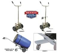 STAINLESS STEEL KNOCKDOWN DRUM TRUCK - US. PAT. NO. 9,302,688